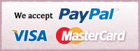 You can pay by PayPal VISA Master Card.